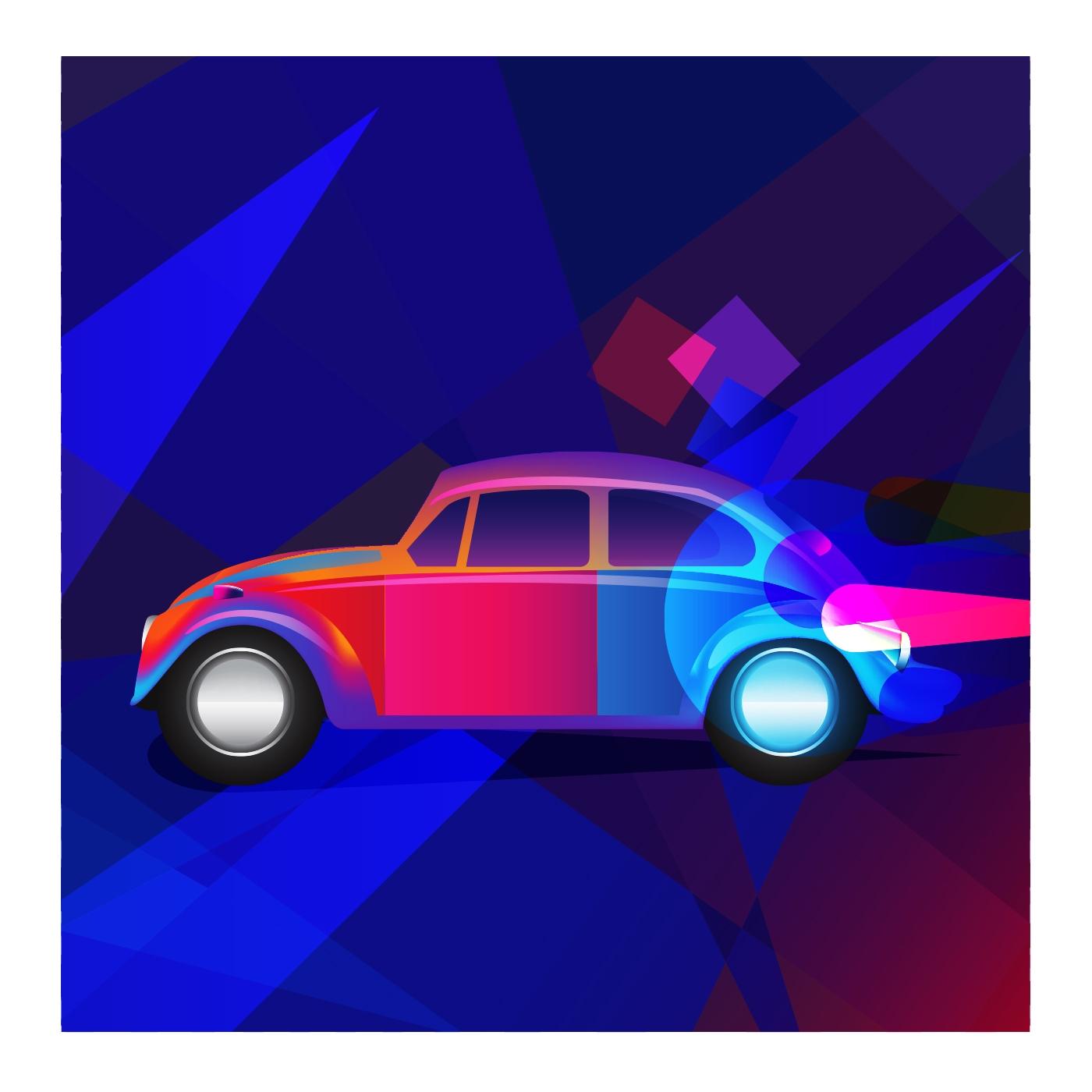 Color Drive - illustration, 3d, ello - spartos   ello