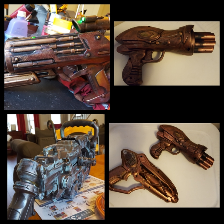 Steampunk Nerf gun upcycles Cos - laughingdogdesignunlmd | ello