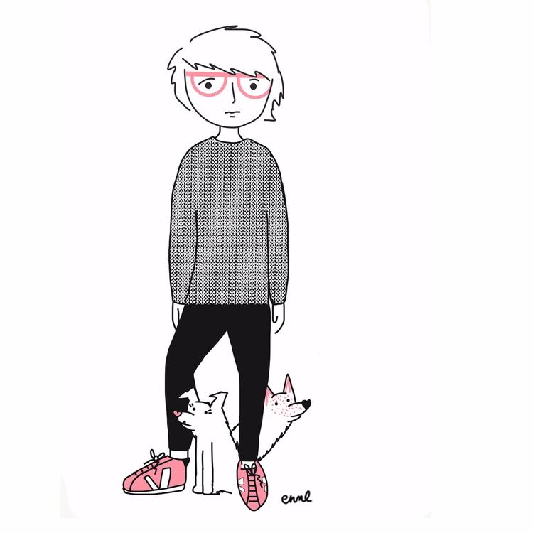 pups: Cider Miso - selfportrait - emilynettie | ello