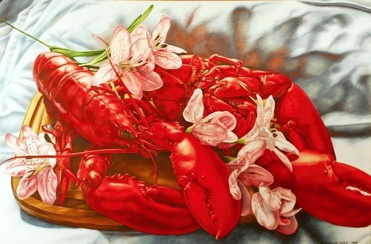 Lobster Pink Lilies – 1989, 32X - nancyht | ello