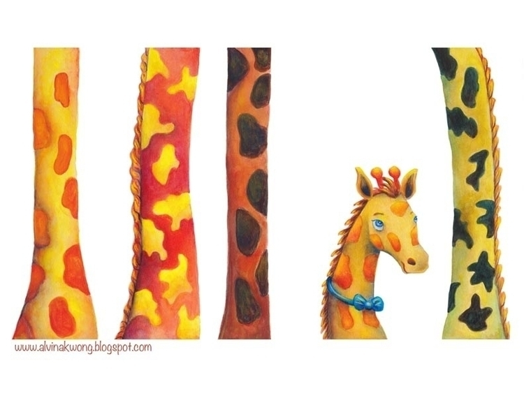 Illustration book Giraffe Ate M - alvinakwong | ello