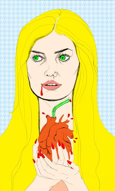 'Bloodthirsty - art, drawing, illustration - vanniapalacio | ello