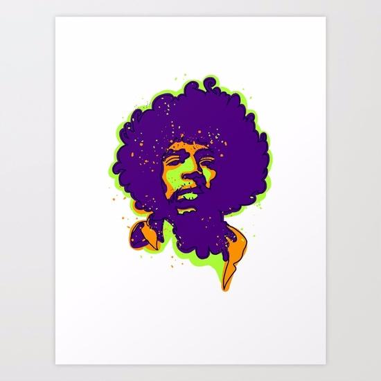 rock star/ART PRINT - jimihendrix - babakesmaeli | ello