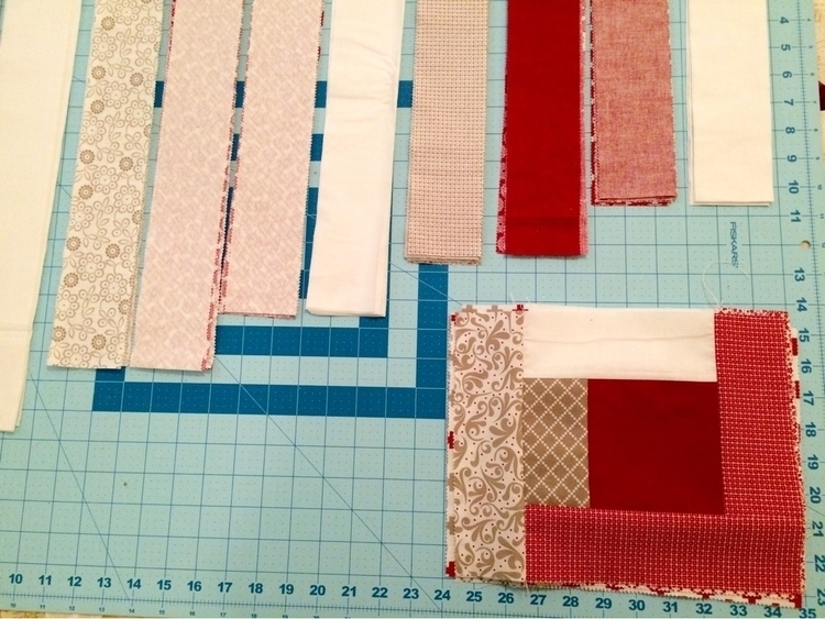 Making progress log cabin quilt - mkkp_quilter | ello