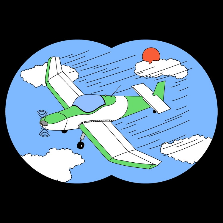 Plane :airplane:️ - illustration - molonom | ello