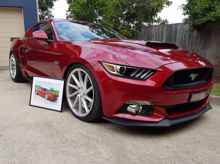 picture Australia - drawmycar, fordmustang - rufinaartisr | ello