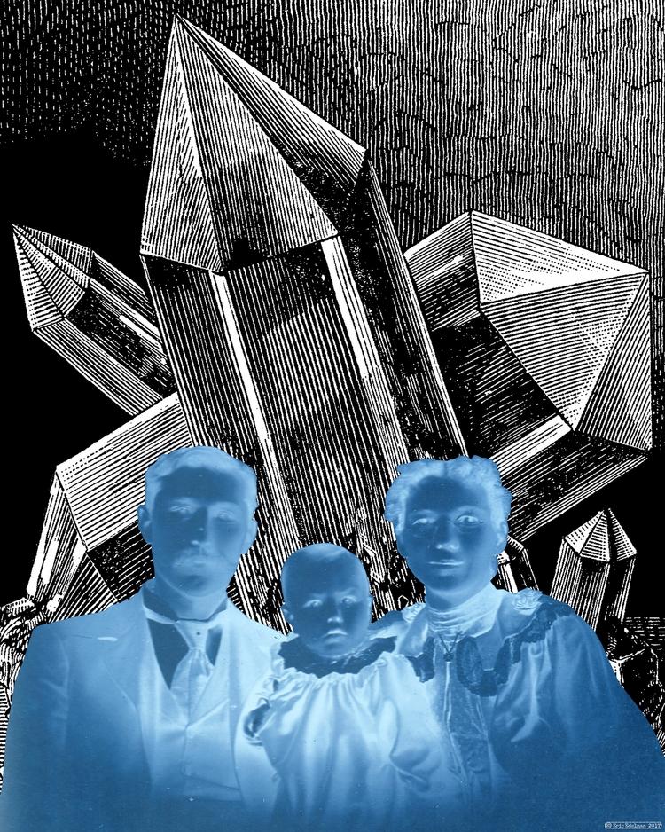 Crystalline Family (2017). Digi - retrocollage | ello