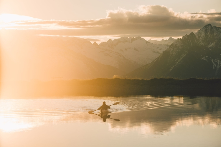 Morning paddle Alps. Austria, 2 - rawmeyn | ello