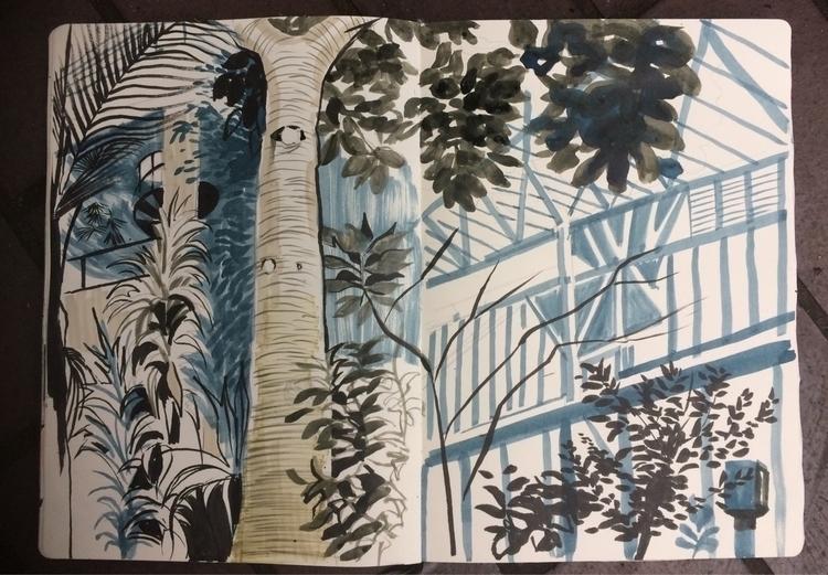 Barbican Conservatory - alexgreendraws | ello