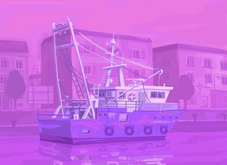 digital painting. Chioggia 17 - travel - zsoltvidak | ello