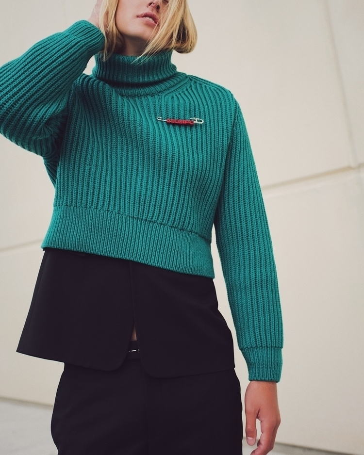 Cropped knit tailored suit. Edi - heykarenwoo | ello