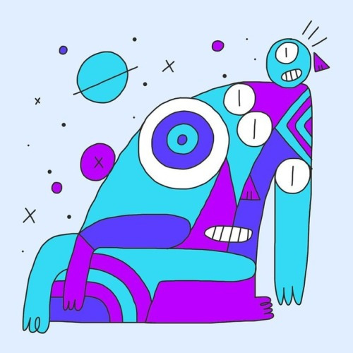 Weird drawing - doodle, shapes, illustration - gueroguero | ello