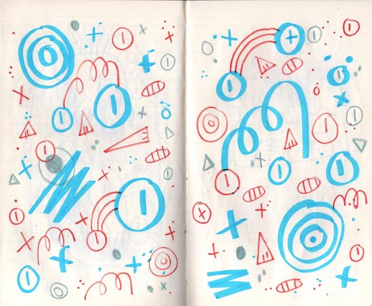 Shapes - drawing, sketchbook, doodle - gueroguero   ello