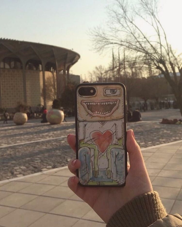 Iphone case / Ink watercolor Bl - babakesmaeli | ello