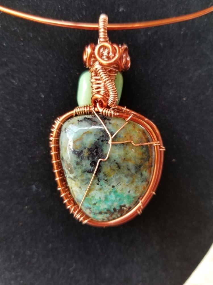 African Turquoise Copper Wire W - defineddesirecollection | ello