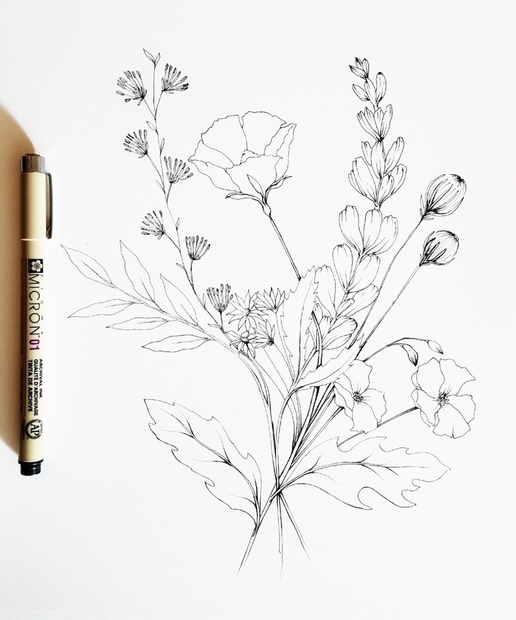 asked friend draw wildflowers.  - jtc | ello