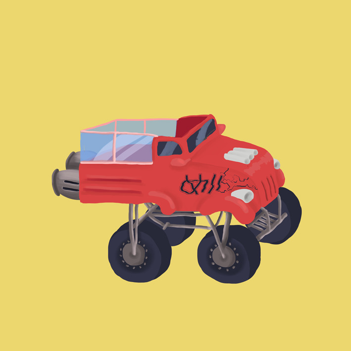 illustration, monstertruck, ezuthe1st - ezuthe1st | ello