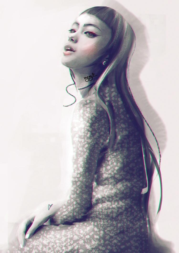 vamp - digital portrait - issyrey | ello