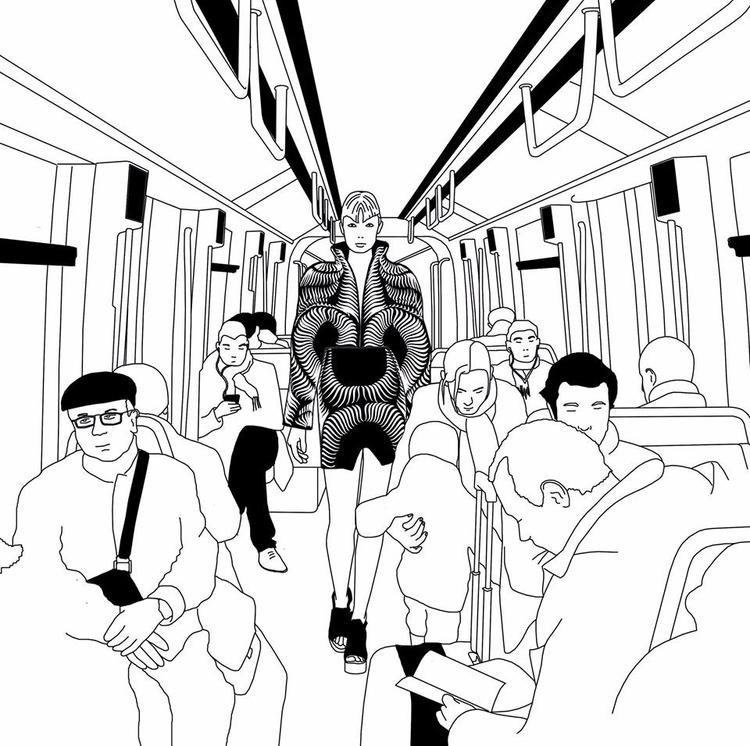 Iris Van Herpen Parisian subway - gautierberthoumieux | ello