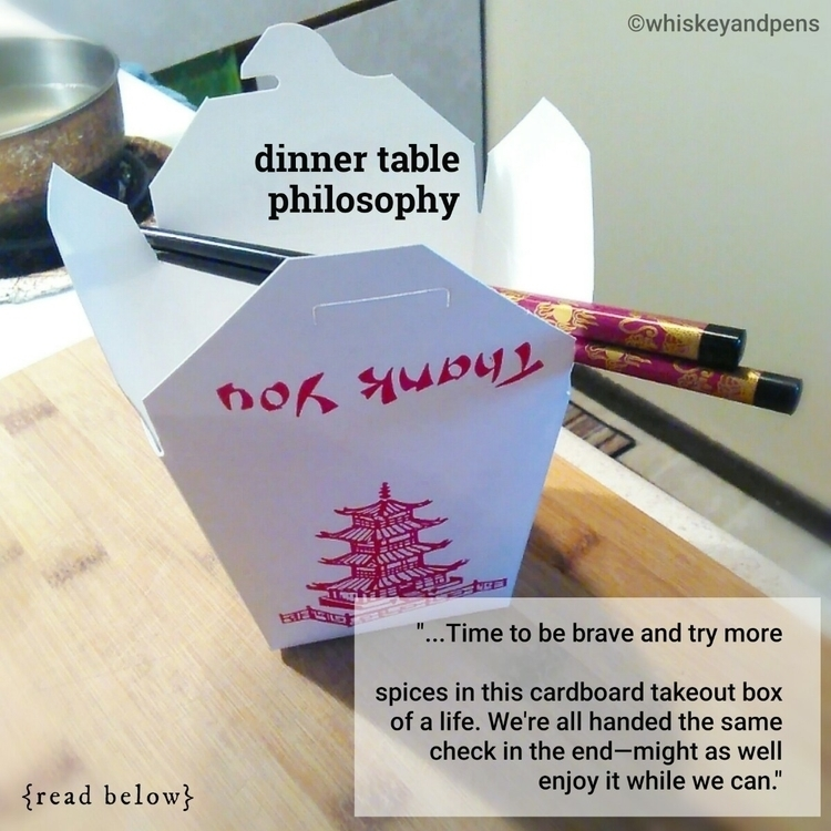 > Dinner Table Philosophy ti - whiskeyandpens | ello