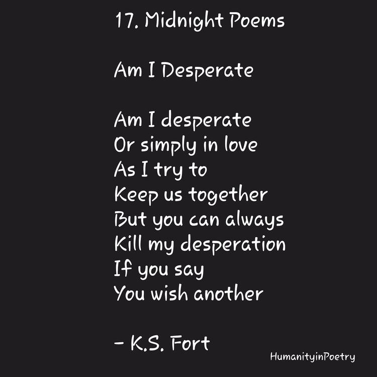 Link Poem, Desperate - poetry, poet - humanityinpoetry | ello