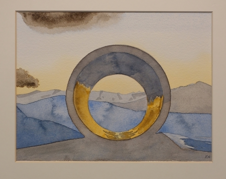 Sun Tunnel 9X12 Watercolor Pape - pleinkelly | ello