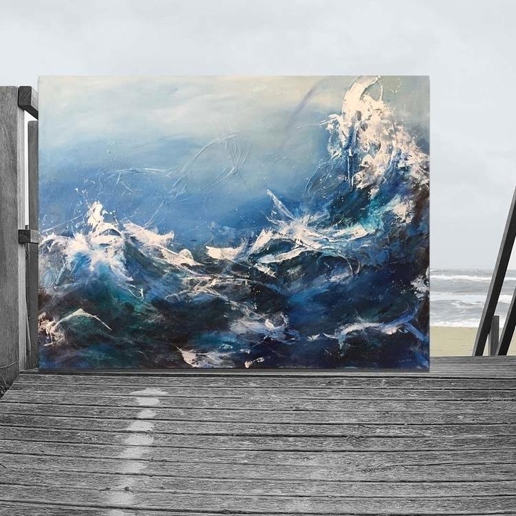 Atmospheric acrylic canvas, 48x - lynettemelnyk | ello