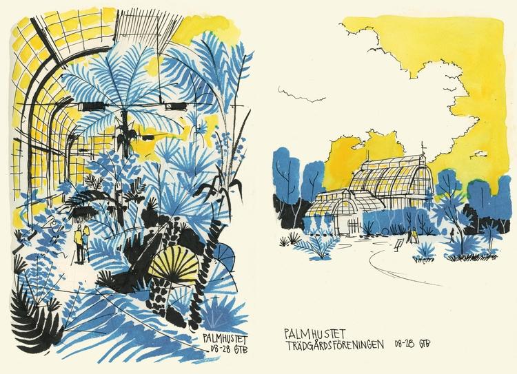 Gothenburg diary - urbansketch, illustration - danielspacek | ello