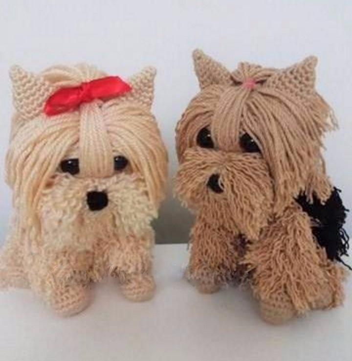 loved crocheted puppies, charmi - brunacrochet | ello