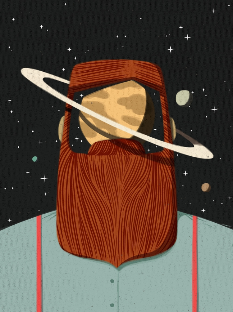 Planet - illustration, ilustra, draw - caiobeltrao | ello