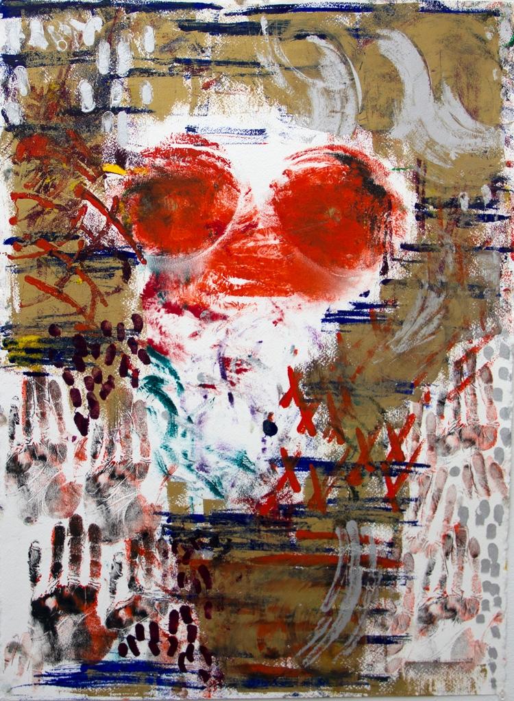 bodyprint, painting, abstract - elekz | ello