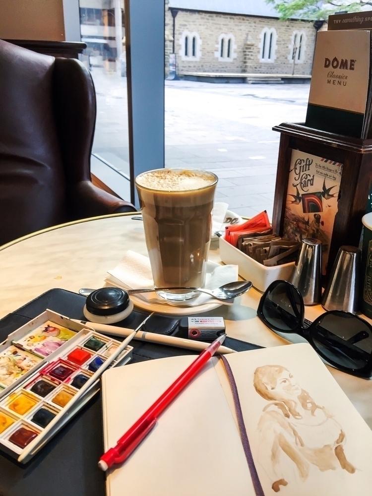 Love working cafes - sereninspired - nightrav3n | ello