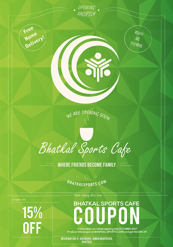 Sports Cafe Flyer - brand, brandidentity - maveez | ello