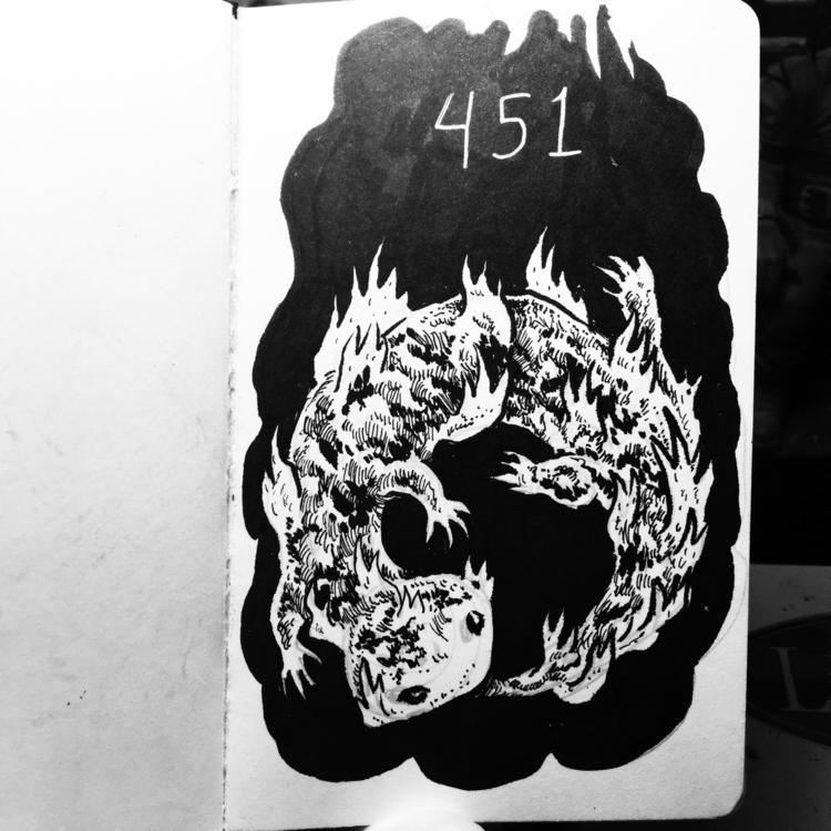 book. late - fahrenheit451, inktober - royallyeric | ello