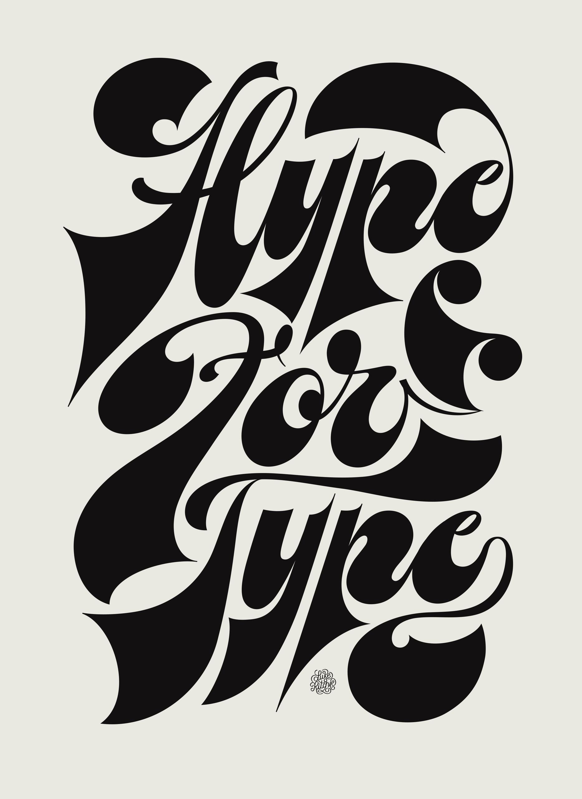 initiated lettering piece. crav - lukeritchie | ello