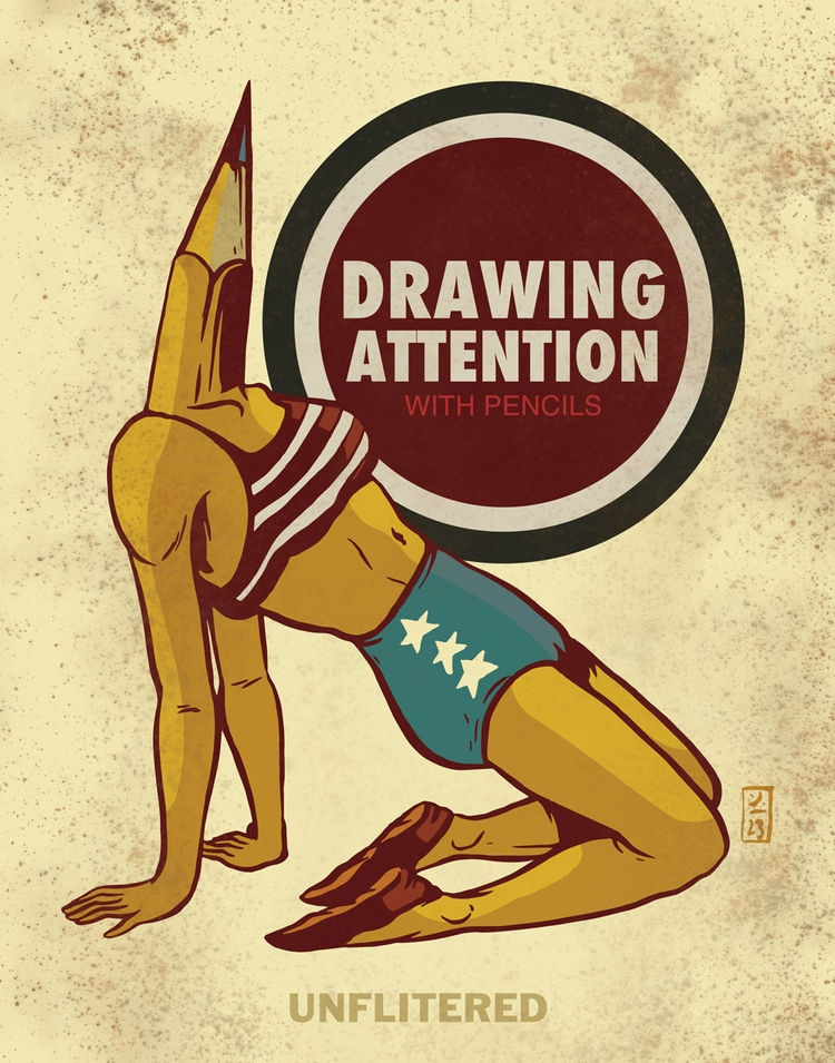 Drawing Attention - illustration - thomcat23 | ello