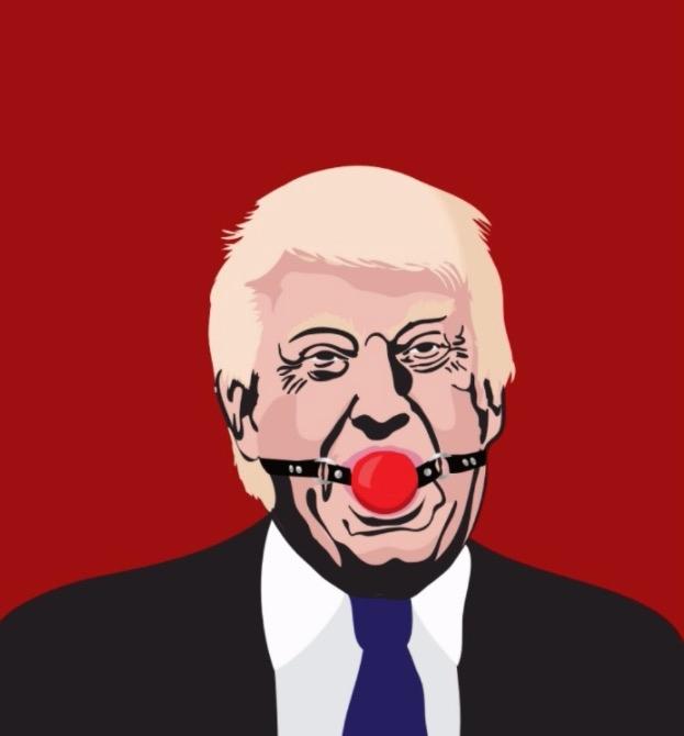 Donald Trump gag ball illustrat - kaimetsavainio | ello