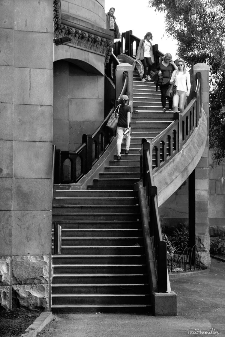 Stairs Flinders Street railway  - tedhamilton | ello