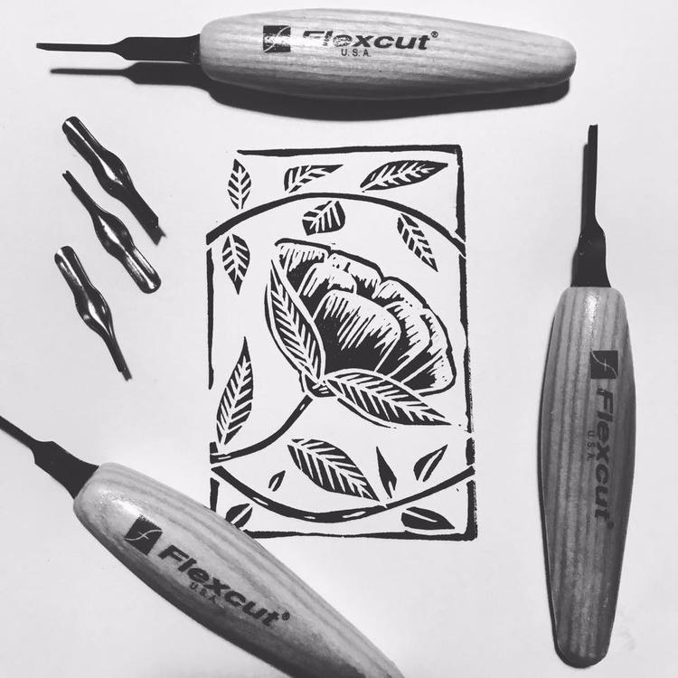 Quick linocut quick sketch 🖤Pro - auniakahn   ello