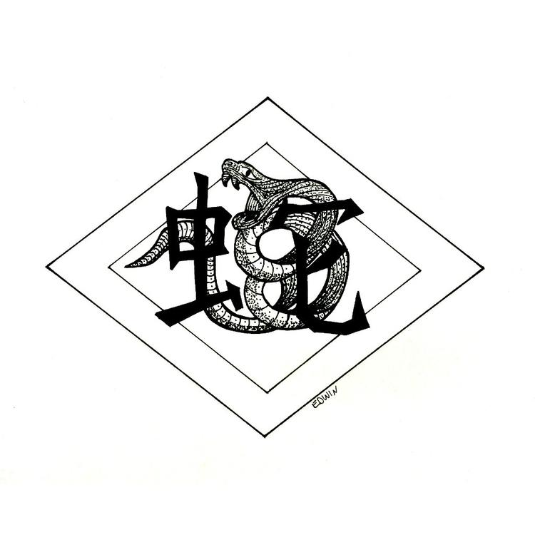 Inktober - Poison (chinese zodi - edwln | ello