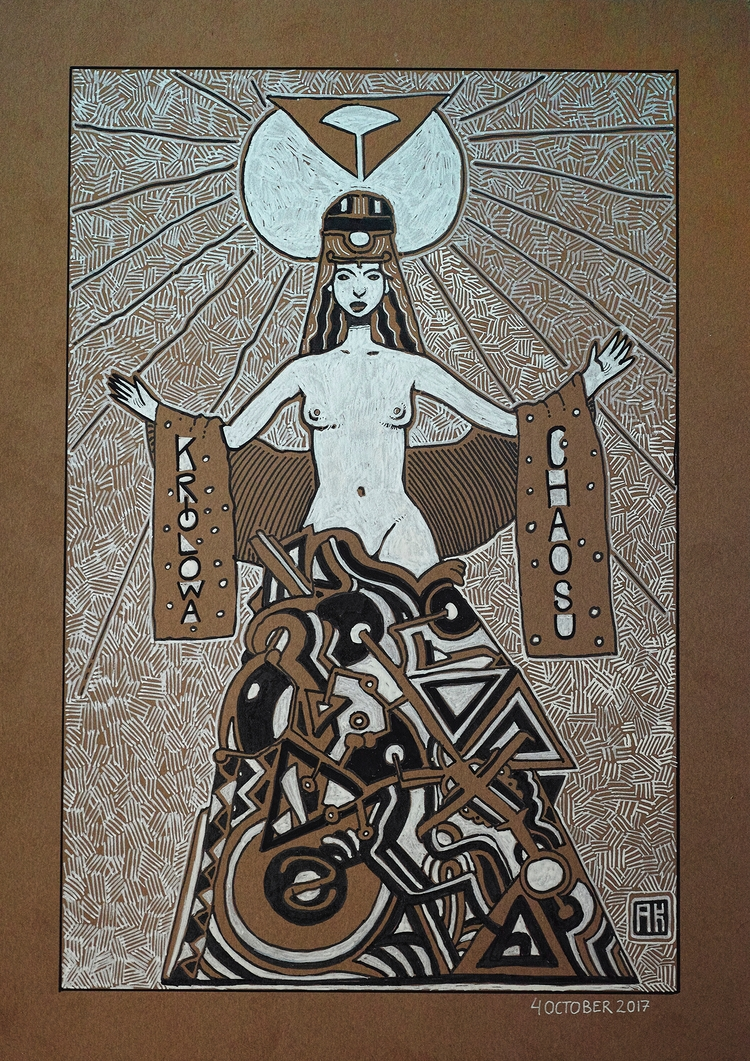 Królowa Chaosu: Inktober 4 Copi - akenoomokoto | ello