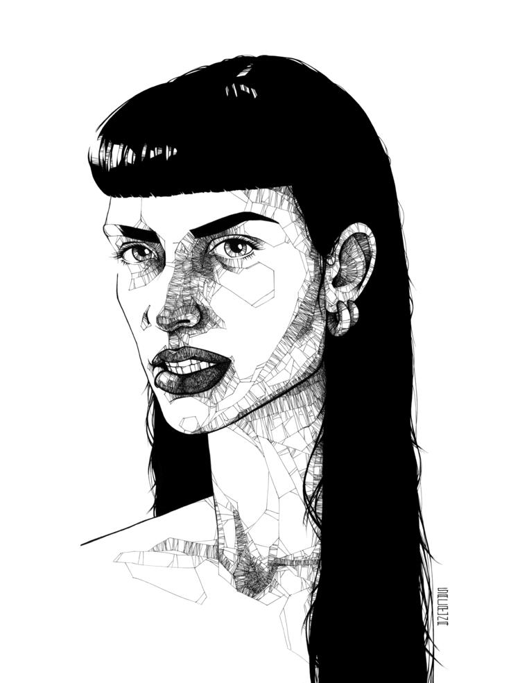 Sevdaliza portrait India Ink pa - sacruna | ello