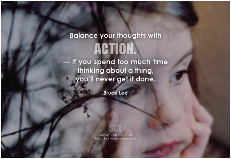 Balance thoughts action. — spen - symphonyoflove | ello