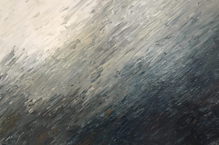 Storm Front. 24 36 acrylic gall - spirittrailfiberworks | ello