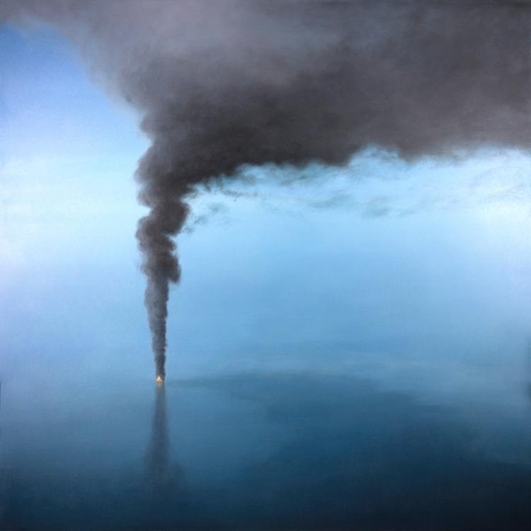 Oceans Burn. Oil Canvas, 48 1.5 - artcafe | ello