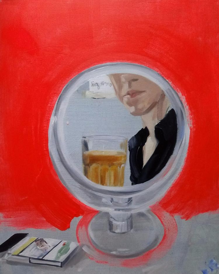 autoportret herbatą#oil#canvas - judytakrawczyk | ello