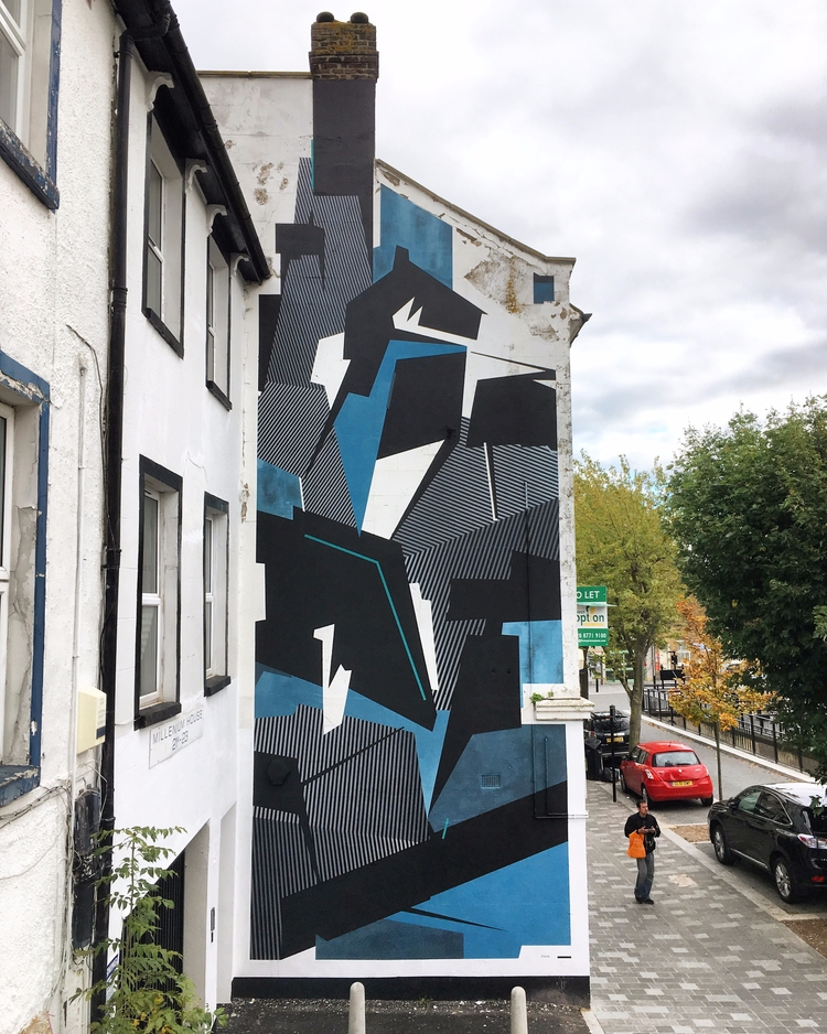 Norwood London, UK - geometry, mural - seikon87 | ello