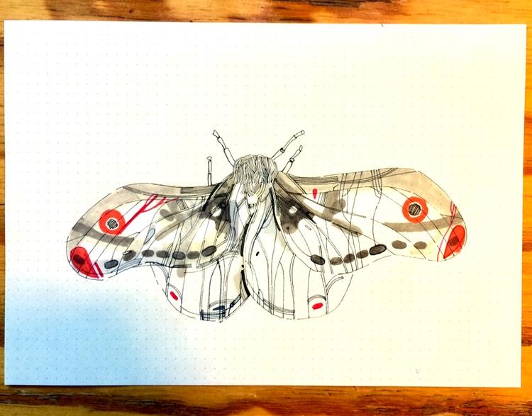 07/31 | polilla moth - inktober2017 - victorgarciabernal | ello