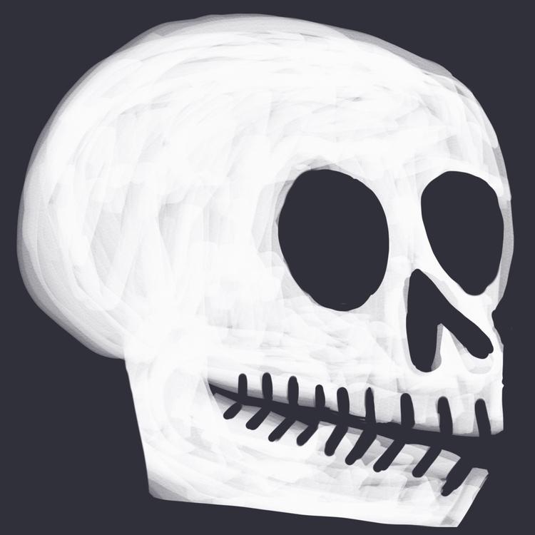 Halloween coming - skull, art, illustration - reneeleigh | ello