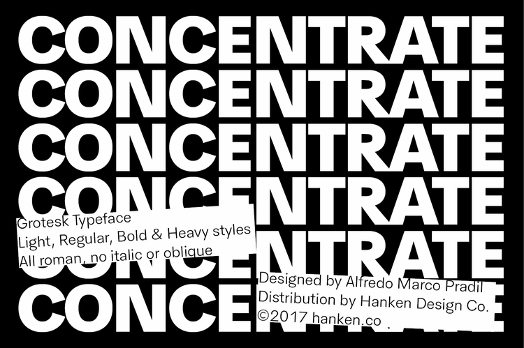 HK Concentrate sans serif typef - hankendesign | ello